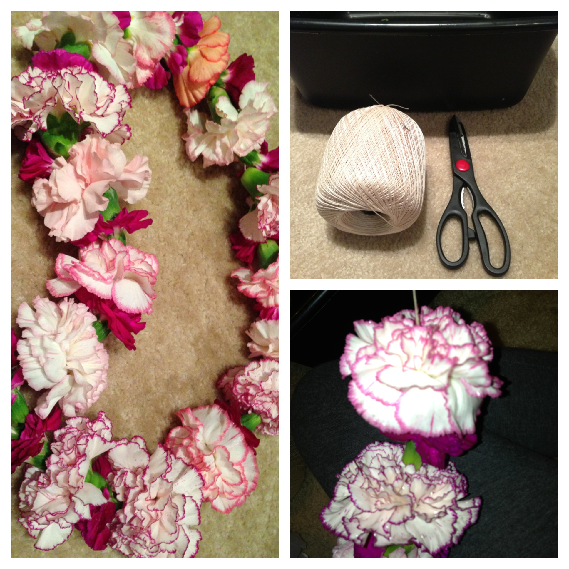 Pretty carnation lei for graduates merry lavender pretty carnation lei for graduates izmirmasajfo
