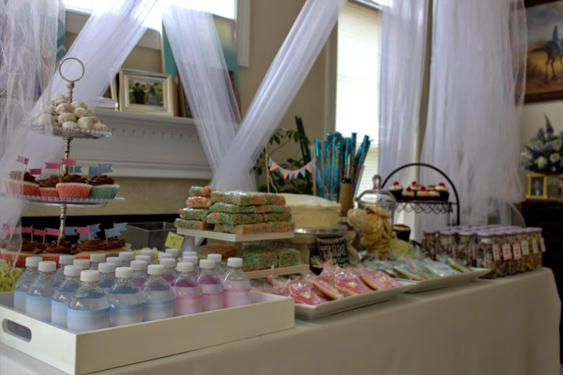 dessert table, cast your vote table, and divider table